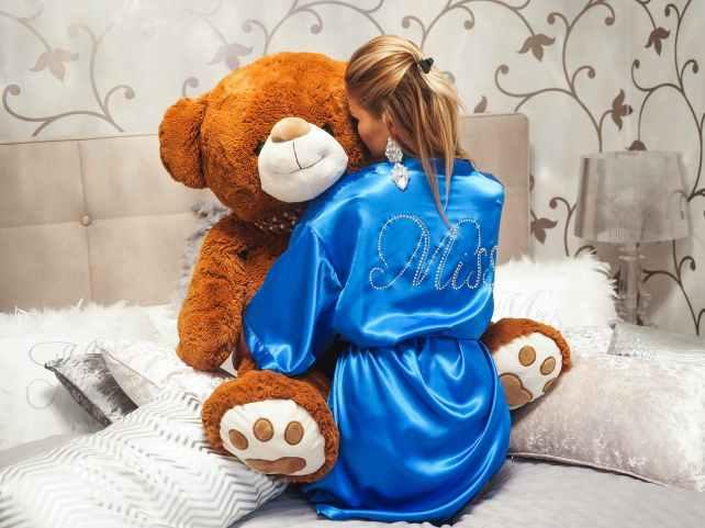 adorable bathrobe bed bedroom